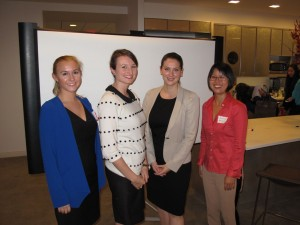 Kim Baird, Kim Rudolph, Heather John, and Ji Eun (Jamie) Lee at 10/16/13 Workshop